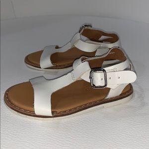 Zara Baby 19 little girls white sandals